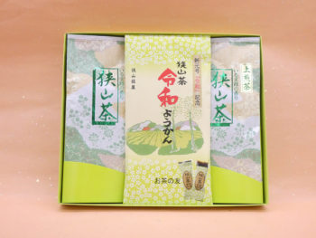 【御中元】上煎茶(100g×2)・ようかん詰合せ