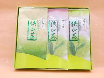 【残暑御見舞】狭山茶・初摘み煎茶3種詰合せ